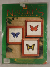Butterflies Designs For The Needle Counted Cross Stitch Kit Color Graph ... - $17.81