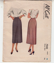 Misses Skirt Slim Straight Vintage 1948 McCall Sewing Pattern 5608 Waist 26 - $12.86