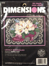Dimensions Lovely Magnolias Cross Stitch Kit 6722 Sealed Flowers Barbara... - $18.80