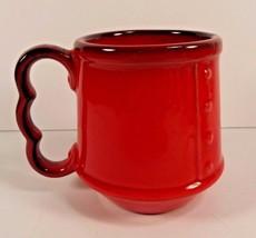 Metlox Red Rooster Mug #760 Coffee Tea Three Finger Handle 8 ounces Pottery - $21.77