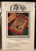 Cross Stitch Christmas Card Craft Kits Laurie Craven Sampler Design Bett... - $12.99