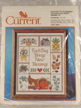 Harvest of Blessings Sampler Current Counted Cross Stitch Kit 1989 Unused - $22.45