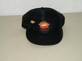 Vintage Harrah's 1990 Black Baseball Hat Cap Ball Base Harrahs 17399 image 1