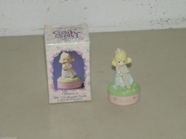 Vintage Enesco Precious Moments Mini Rosary Box Old Rugged Cross 17423 - $23.12