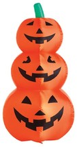 """48"""", Inflatable Lighted 3 Stacked Happy Pumpkins, For Outdoor Use NEW - $29.69"""