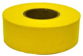 1 ROLL  IRWIN 17024 300 ft YELLOW VINYL FLAGGING TAPE MARKING RIBBON NEW - $2.48