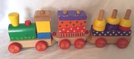 Wood Stacking Train Set Wooden Blocks 20044 - $23.01
