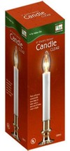 "6-LOT Electric Candles 9"" Clear Brass Plated  NOMA  On/Off Switch NEW - $18.80"