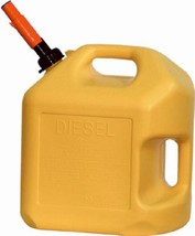MIDWEST 8600 5 GALLON YELLOW PLASTIC EPA COMPLIANT DIESEL FUEL CAN CONTA... - $31.67