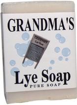 1 Bar of Grandmas Pure Natural Lye Soap Bar Unscented For Dry Skin - $3.41