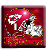 KANSAS CITY CHIEFS FOOTBALL TEAM LOGO DOUBLE LI... - $11.99