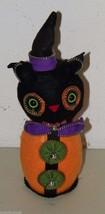 Halloween CAT ZIPPER Fabric Figurine Witch 16200 Felt - €16,28 EUR