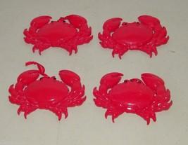 4 Red Crab Christmas Xmas Holiday Ornament 16240 - $37.04