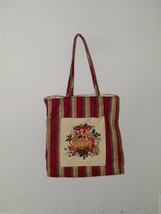 LONGABERGER CHRISTMAS STRIPE Christmas Tote Gift Bag Xmas Holiday 17485 - $21.49