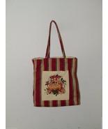 LONGABERGER CHRISTMAS STRIPE Christmas Tote Gift Bag Xmas Holiday 17485 - $21.49