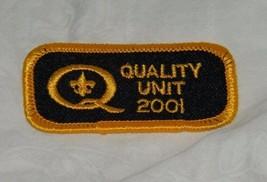 2001 Boy Scouts Quality Unit Patch Scout 18189 - $9.49