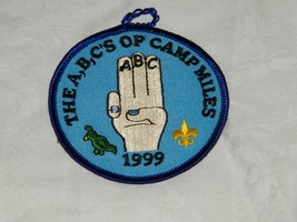 1999 Boy Scouts Camp Miles Patch Scout 18188 A B C's - $9.49