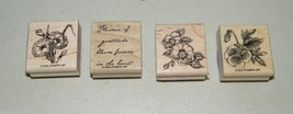 Flowers of Gratitude Stampin Up 2005 Stamp Set Stamps 4 15341 - $13.81