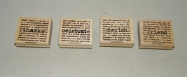 Stampin Up 2005 Stamp 15345 Rubber Set 4 Stamps Lexicon of Love Friend T... - $7.15
