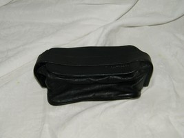 Vintage Lufthansa Toiletry Travel Cosmetic Bag Case Black Faux Leather 1... - $13.05
