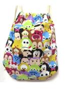 Adults disney tsum mickey dark canvas backpack drawstring shoulder bag /... - $9.00
