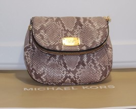 Michael Kors Bedford Cocoa Flap Crossbody Embossed Leather Handbag NWT - $119.68