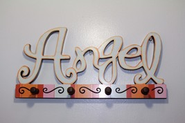 """Wood Angel With 4 Wood Hooks Wall Home Decor, 17.3"""" Great Gifts for Baby... - $8.56"""