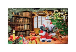 Home Fashions Merry Christmas Santa Vinyl Back Holiday Painting Doormat ... - $10.99