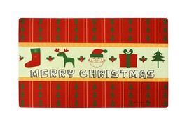 """Home Fashions Merry Christmas Vinyl Back Holiday Painting Doormat 30""""X18"""" - $10.99"""