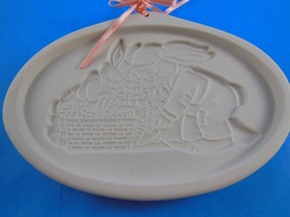 Longaberger Easter Bunny Pottery Cookie Mold 1995 Grandpa & Herbie in Ga... - $9.89