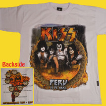 T-SHIRT KISS Peru Tour 2009 HEAVY METAL Gene Simmons HARD ROCK CD WHITE ... - $27.70