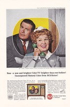 "1960's Ad For RCA Victor Color Televisions Featuring ""Hazel"" on NBC - $5.99"