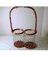 Wire Double Holder Wine Basket - $12.00