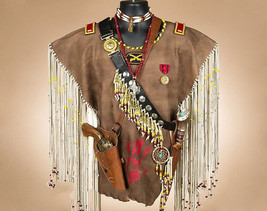 Creek Indian Warrior War Shirt Fringed Buckskin... - $799.00