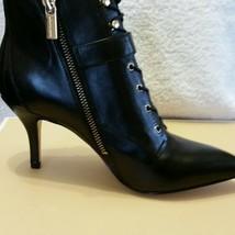 Michael Kors Brena Leather Bootie Black Women s... - $149.97