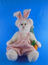 "Russ Fully Jointed White Easter Bunny Firm Plush Babette 10"" MWT - $9.89"