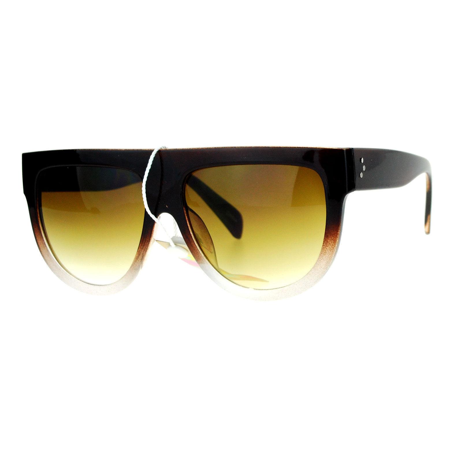 Designer Fashion Sunglasses Unisex Flat Top Hipster Trendy Shades UV400