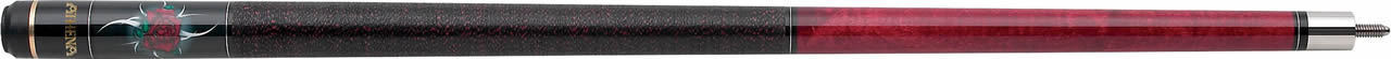 New Athena ATH09 Pool Cue Stick - Black Maple w/Rose and Sprial 17-21 oz & Case