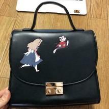 Disney accommode Alice in Wonderland 2 Way Chain Shoulder Bag Handbag Black - $88.11