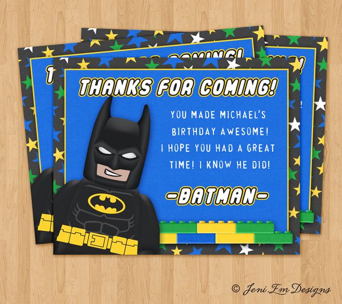 Matching Batman Lego Movie Birthday Invite And 50 Similar Items