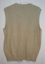 Joseph Abboud Argyle 100% Cotton Sweater Vest - Tan Grey White - Men's M image 2