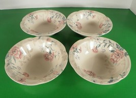 Johnson Brothers LYNTON Rim Cereal Bowl (s) LOT OF 4 England Pink Blue F... - $29.65