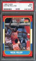 1986-87 Fleer #94 Tree Rollins Psa 9 Hawks - $39.00