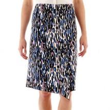 Worthington Envelope Pencil Skirt Animal Art Size 4 New Msrp $40.00 - $14.99
