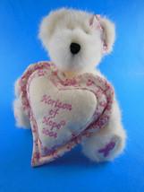 """BOYDS BEARS Longaberger 8"""" 2004 Horizon of Hope Plush Jointed Bear Pink ... - $10.88"""
