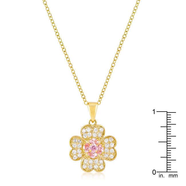 Goldtone Lucky Clover Pendant