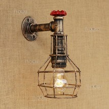 Steampunk Caged Sconce Antique Bronze E27 Light Wall Lamp Home Lighting ... - $82.98