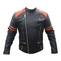 Handmade men bomber leather jacket, Men's leather jackets, Black Leather... - $169.99
