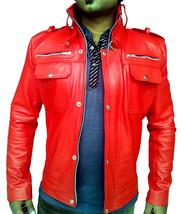 Handmade New Men Bomber Slim Fit Leather Jacket, Men leather jacket, Lea... - $169.99
