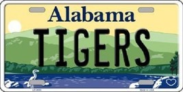 "NCAA Tigers Vanity License Plate Tag 6""x 12"" Sports Auburn  Metal Auto Alabama - $12.86"